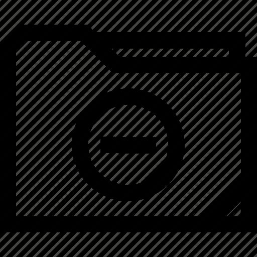 file, folder, line, negative icon