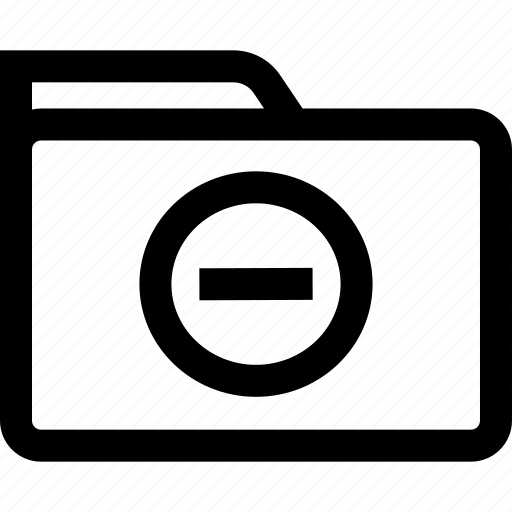 folder, line, negative, save icon