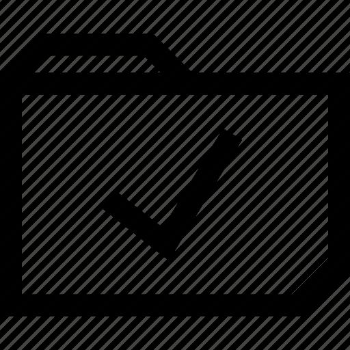 file, folder, ok, safe, secured icon