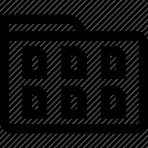 file, folder, save, six icon