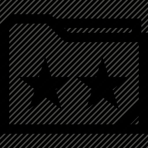 folder, save, stars icon