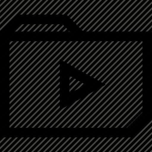 archive, folder, play, vidoe, youtube icon