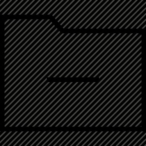 archive, folder, line, save icon