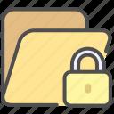 archive, folder, folder encryption, folder password icon