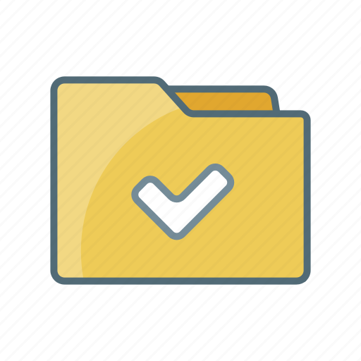 Checked, confirm, directory, document, file, folder, ok icon - Download on Iconfinder