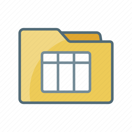 directory, document, file, folder, sheet, spread, table icon