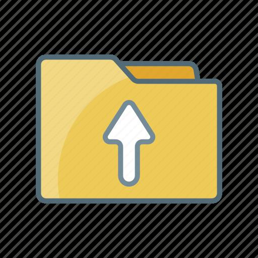 directory, document, file, folder, send, up, upload icon