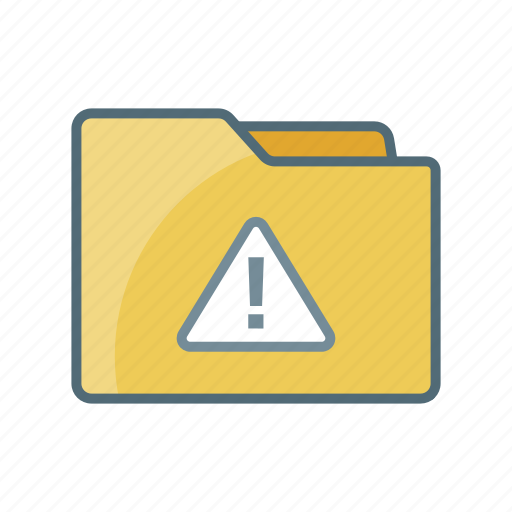 Caution, directory, document, error, file, folder, warning icon - Download on Iconfinder