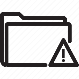 alert, folder, sign, warning icon
