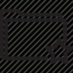 bookmark, favourite, folder, star icon