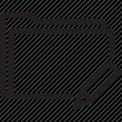 change, edit, folder, pen icon