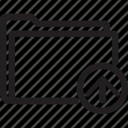 arrow, folder, move, up icon
