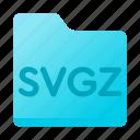 document, folder, format, svgz icon