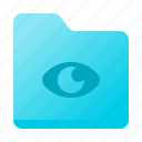 document, eye, file type, folder, page icon