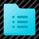 data, document, file type, folder, text icon
