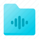 audio, file, folder, music, sound icon
