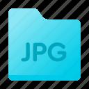 document, folder, format, jpg, page icon