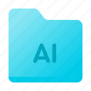 ai, archive, document, files, folder, page