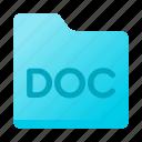 doc, document, file, folder, format, word icon