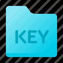 document, folder, format, key, paper icon
