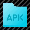 apk, document, folder, page, paper icon