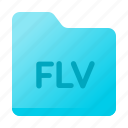 document, flv, folder, format, page icon
