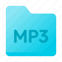 document, folder, mp3, page, paper