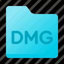 dmg, document, folder, page, paper icon