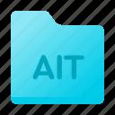 ait, document, folder, format, page icon