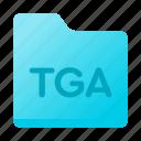 document, extension, file, folder, tga icon