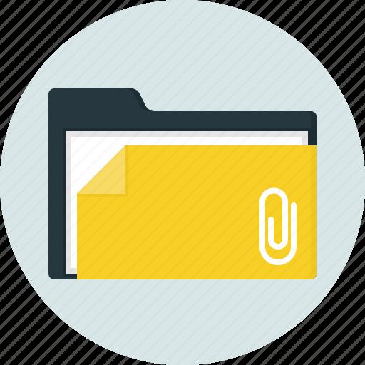attached, close, doc, document, folder icon