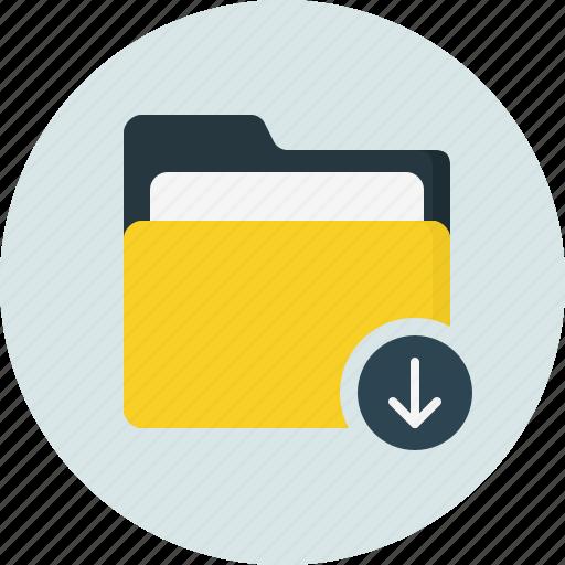 doc, document, download, folder icon
