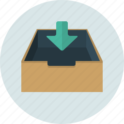 box, inbox, letter, mail, receive icon