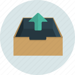 box, mail, out, send icon