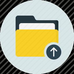 close, doc, document, folder, upload icon