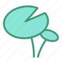 botanic, foliage, leaf, lotus, plant icon