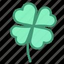 botanic, clover, foliage, leaf, plant icon