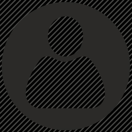 follower, login, man, round, user icon