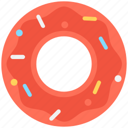 bakery, confectionery, donut, doughnut, sweet snack icon