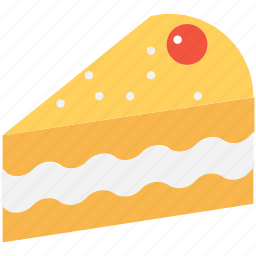 bakery, cake piece, dessert, food, sweet food icon