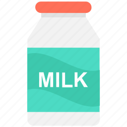beverage, breakfast, milk bottle, milk container, milk jar icon