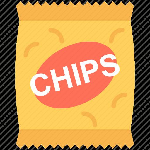 chips pack, food, potato chips, potato crisps, snacks pack icon