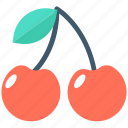 cherry, food, fruit, healthy food, stone fruit icon