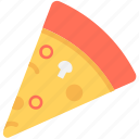 fast food, italian food, junk food, pizza, pizza slice icon