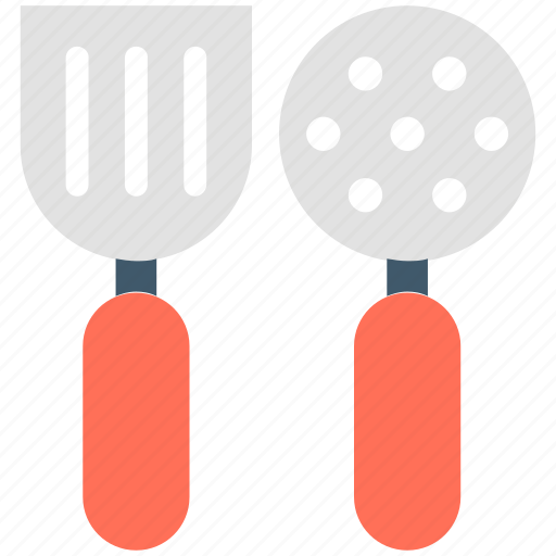 cooking tools, kitchen, kitchen utensils, skimmer, spatula icon