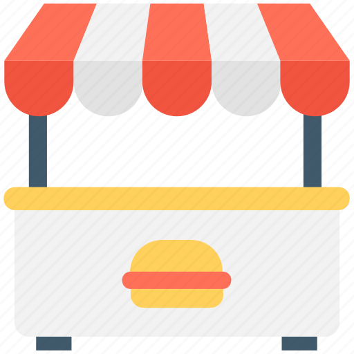 Exhibition Stall Icon Png : Burger kiosk stall food stand street