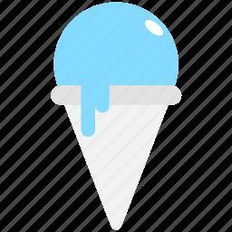 cone, frozen dessert, ice cone, ice cream, sorbet icon