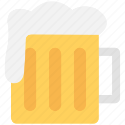 beer mug, beer stein, beer tankard, chilled beer, pint glass icon
