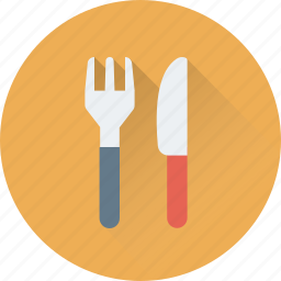 cutlery, dining, fork, knife, restaurant icon