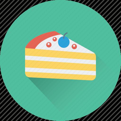 bakery, cake piece, dessert, food, sweet icon